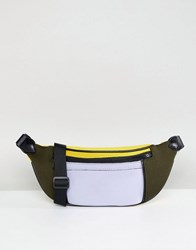 Asos Design Colour Block Scuba Bum Bag Multi