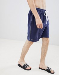 Lacoste Premium Lounge Shorts In Terry Navy