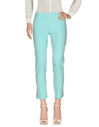 120 Lino Casual Pants Turquoise