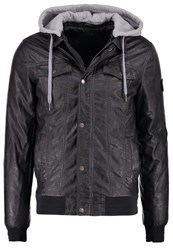 Kaporal Dino Faux Leather Jacket Carbo Black