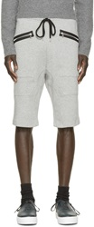 Markus Lupfer Grey Zipper Lounge Shorts