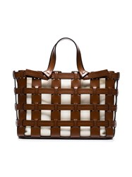 Trademark Brown Frances Cutout Leather Tote
