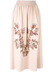Stella Mccartney Embroidered Flower Skirt Pink And Purple