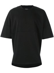 Palm Angels Oversized T Shirt Black