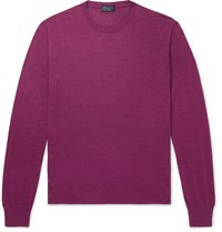 Charvet Slim Fit Cashmere And Silk Blend Sweater Purple