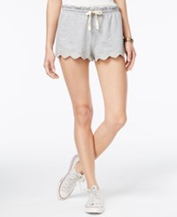 American Rag Embroidered Scalloped Soft Shorts Only At Macy's Heather Grey