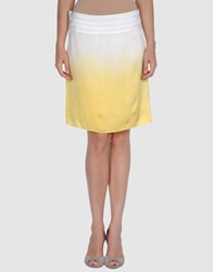 Bea Yuk Mui Bea Knee Length Skirts Yellow