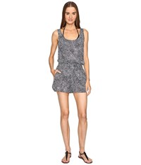 Stella Mccartney Mixed Animal And Elastic One Piece Wrap Midnight Blue Leopard Giraffe Print Women's Jumpsuit And Rompers One Piece Gray