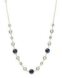 Ippolita 18K Yellow Gold Rock Candy Lollitini Necklace In London Blue Topaz And Blue Topaz 16 Blue Gold