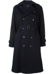 A.P.C. Classic Trench Coat Blue