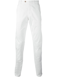 Fay Straight Fit Trousers White