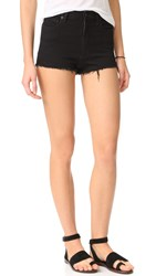 Free People High And Tight Cutoff Shorts Black