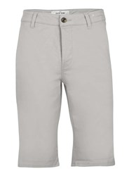Topman Grey Longer Length Chino Short