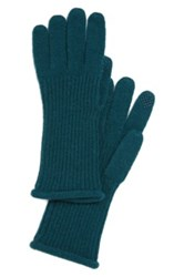 Halogen Nordstrom 'Touch Tech' Cashmere Gloves Green