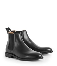 Reiss Tenor Leather Chelsea Boots In Black