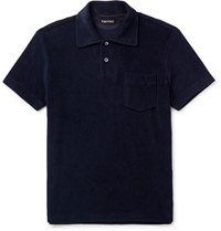 Tom Ford Cotton Terry Polo Shirt Navy