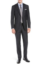 Peter Millar Big And Tall Flynn Classic Fit Check Wool Suit Charcoal