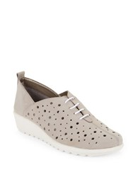 The Flexx Run Crazy To Leather Wedge Sneakers Grey