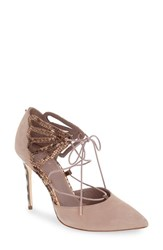 Ted Baker Women's London 'Mallai' Lace Up D'orsay Pump Light Grey Nubuck