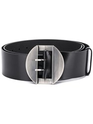 Ann Demeulemeester Oversized Buckle Belt Black