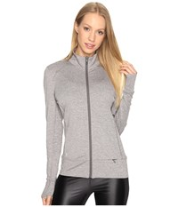 Lole Essential Up Cardigan Volcanic Glass Heather Women's Sweater Gray