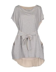 Uniqueness Short Dresses Light Grey