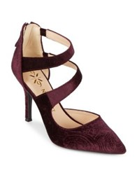 Nine West Florent9 Velvet Dress Pumps Dark Purple