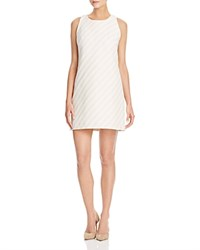 Milly Textured Stripe Shift Dress Cream