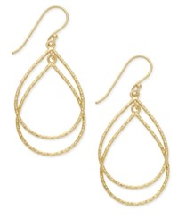 Giani Bernini Double Teardrop Drop Earrings In 18K Gold Plated Sterling Silver Only At Macy's Yellow Gold