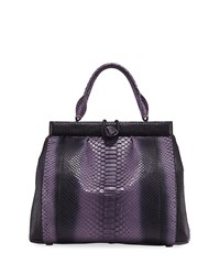 Nancy Gonzalez Python Tall Satchel Bag Purple