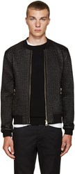 Dolce And Gabbana Black Nylon Quilted Bomber Jacket