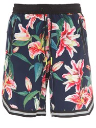 Mc2 Saint Barth Printed Long Tech Swim Shorts Multicolor