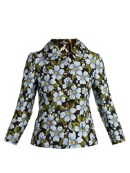 Dolce And Gabbana Floral Jacquard Jacket Blue Multi