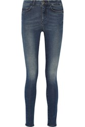 Mih Jeans Mid Rise Skinny Jeans Blue