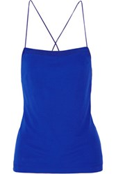 Alexander Wang T By Stretch Jersey Top Bright Blue