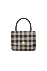 Mansur Gavriel Metropolitan Bag In Black Checkered And Plaid Black Checkered And Plaid