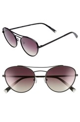 Kendall Kylie Yasmin 55Mm Aviator Sunglasses Black Brown Gold Gradient Black Brown Gold Gradient