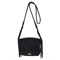Dolce Vita Collection Handbags Cali Suede Cross Body With Fringeblack