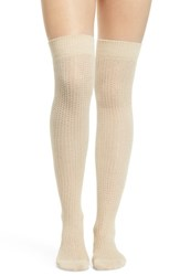 Treasure And Bond Chunky Knit Over The Knee Socks Beige