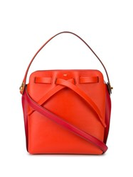 Anya Hindmarch Logo Plaque Satchel Bag Red