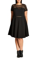 City Chic Plus Size Women's Lace Fever Dress