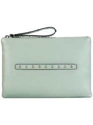 Red Valentino Star Stud Clutch Green