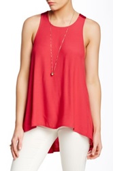 Autograph Addison Ross Crisscross Strap Tank Red