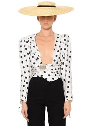 Jacquemus Dots Printed Twill Cropped Top