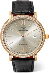 Iwc Schaffhausen Portofino Automatic 40 Alligator Rose Gold