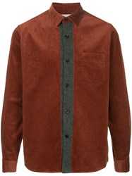 Tomorrowland Contrast Placket Shirt Red