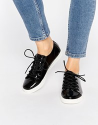 Monki Minni Patent Leather Shoe Black