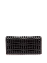 Christian Louboutin Spike Embellished Bi Fold Leather Wallet Black
