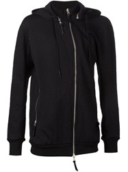 11 By Boris Bidjan Saberi Off Centre Zip Hoodie Black