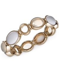 Jones New York Gold Tone Stretch Bracelet White